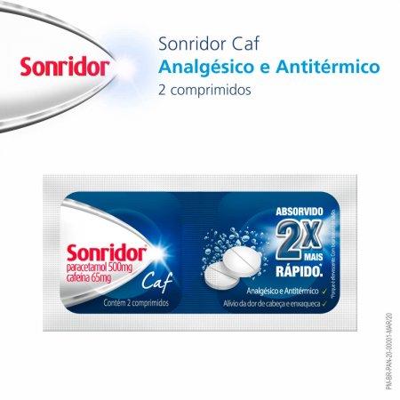 SONRIDOR CAF 500MG 2 COMPRIMIDOS EFERVECENTES