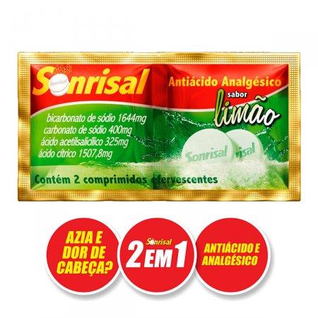 Antiácido Analgésico Sonrisal Limão 2 em 1 Para Azia e Dor de Cabeça