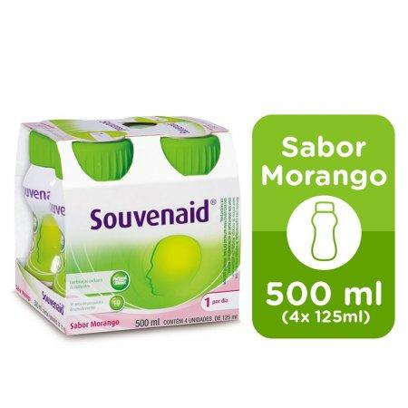 SOUVENAID MORANGO 4 UNIDADES COM 125 ML CADA