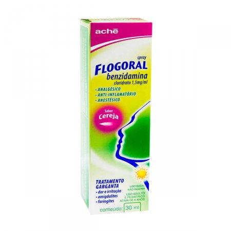 Spray Flogoral Sabor Cereja 30ml   Drogasil.com