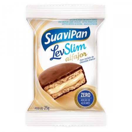 Alfajor Suavipan Chocolate Branco
