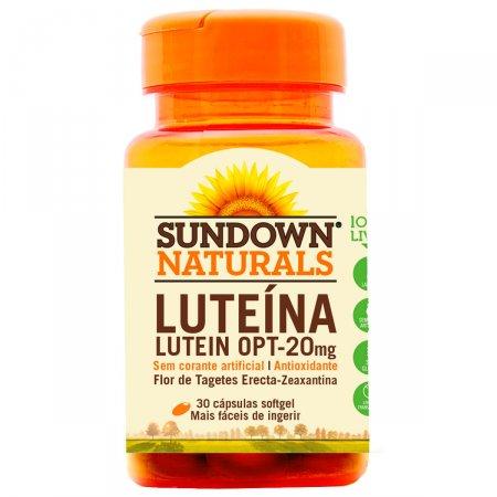 Luteína 20mg Sundown com 30 Cápsulas