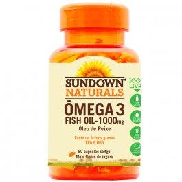 Ômega 3 Sundown Fish Oil 1000mg com 60 Cápsulas