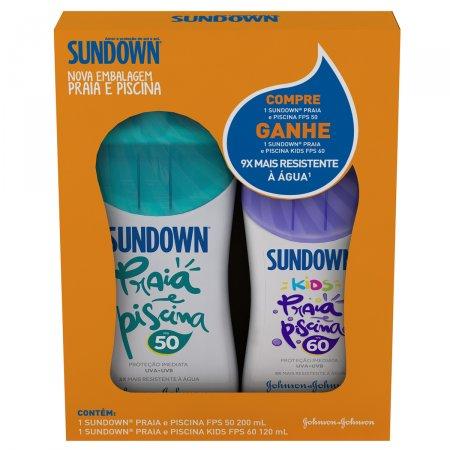 Kit Protetor Solar Sundown FPS50 + Protetor Kids FPS60