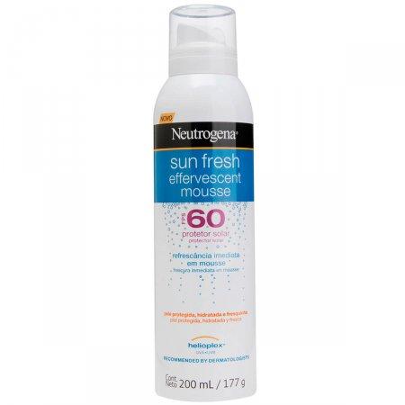 Protetor Solar Corporal Neutrogena Sun Fresh Mousse Efervecente FPS60