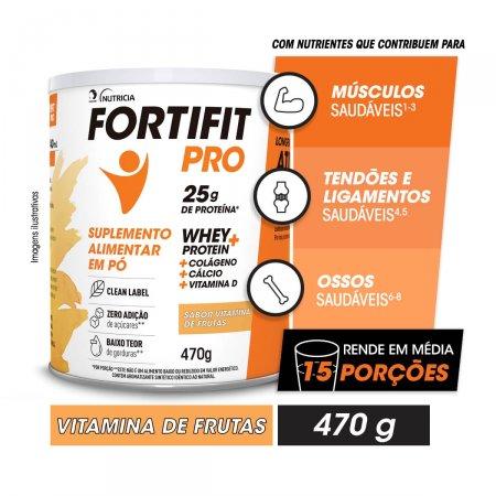 Suplemento Alimentar em Pó Fortifit Pro Sabor Vitamina de Frutas