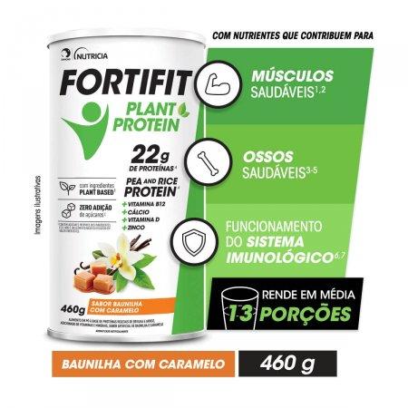 Suplemento Alimentar Fortifit Plant Sabor Baunilha com Caramelo 460g |