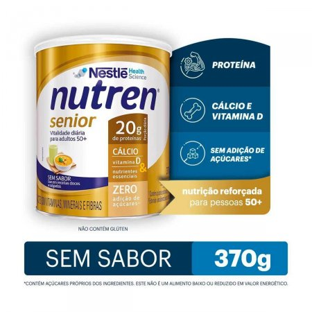 Complemento Alimentar Nutren Senior Sem Sabor 370g