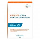 Suplemento Alimentar para Cabelos e Unhas Anacaps Activ+ com 30 cápsulas