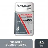 VITASAY 50+ A-Z HOMEM+CAFEINA COM 60 COMPRIMIDOS