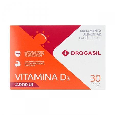 DROGASIL VITAMINA D 2000UI 30 CAPSULAS