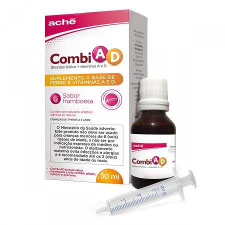 Suplemento Vitamínico Combi AD Sabor Framboesa Solução com 30ml