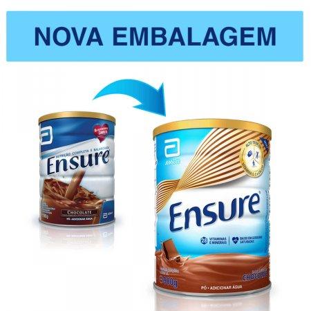 Suplemento Nutricional Ensure Sabor Chocolate 900g Abbott   Drogasil.com Foto 3