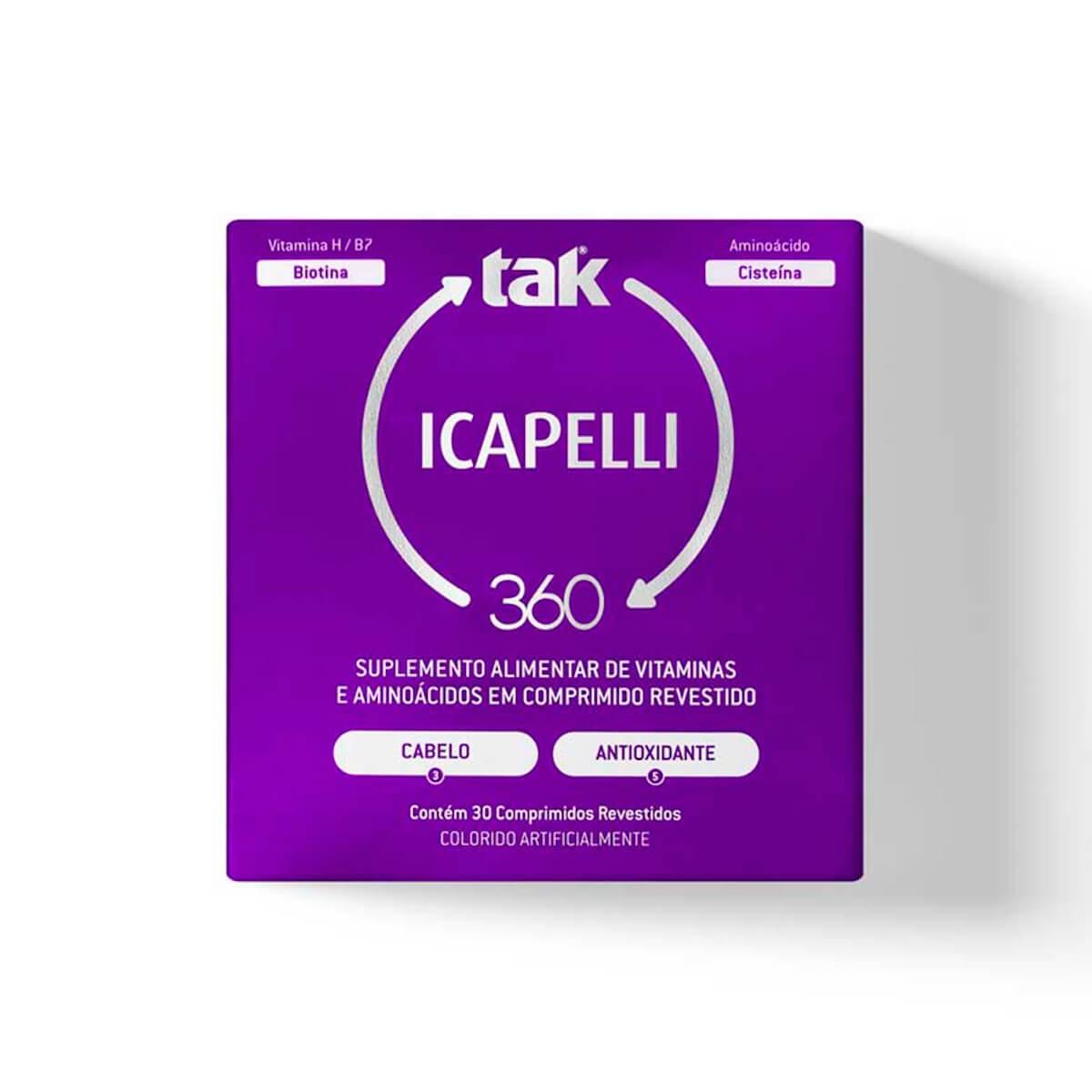 Tak 360 Icapelli 30 Comprimidos Revestidos