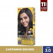 COR&TON MINI KIT COLORACAO PERMANENTE 3.0 CASTANHO ESCURO