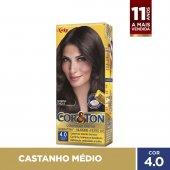 COR&TON MINI KIT COLORACAO PERMANENTE 4.0 CASTANHO MEDIO