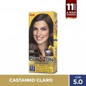 COR&TON MINI KIT COLORACAO PERMANENTE 5.0 CASTANHO CLARO
