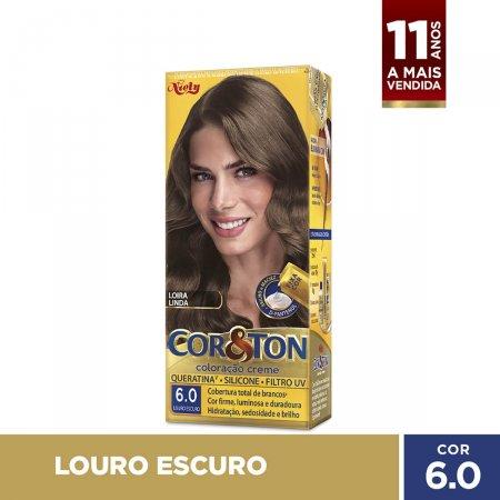 COR&TON MINI KIT COLORACAO PERMANENTE 6.0 LOURO ESCURO