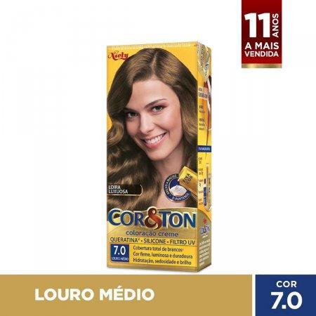 Tintura Niely Cor&Ton 7.0 Louro Médio