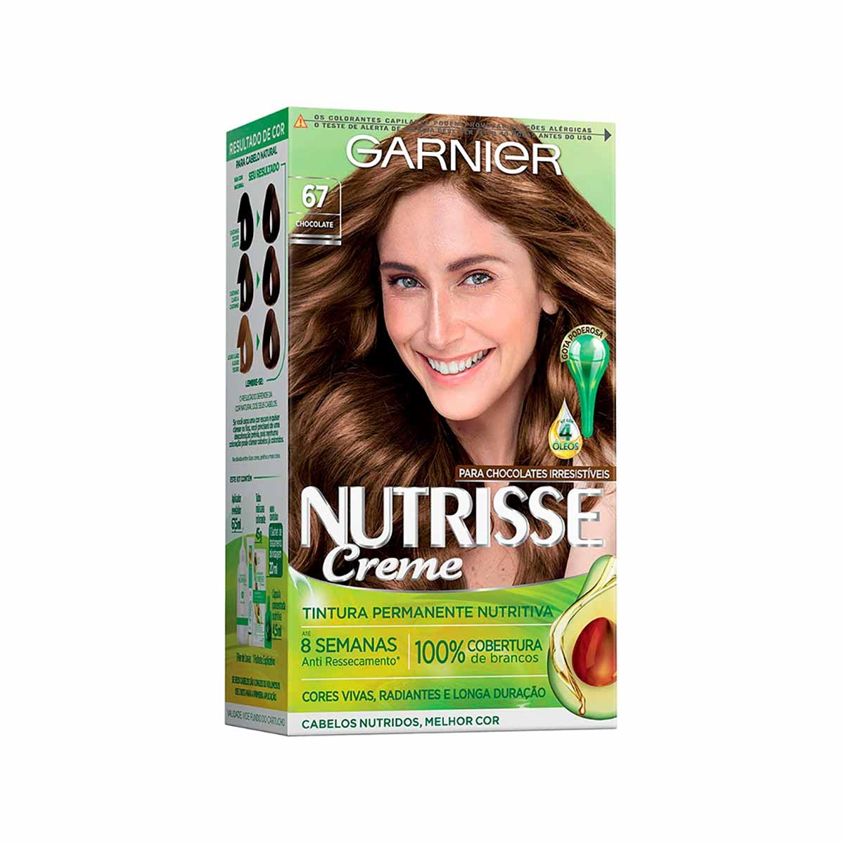Tintura Permanente Nutrisse Creme 67 Chocolate Garnier 1 Unidade