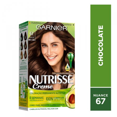 NUTRISSE COLORAÇÃO PERMANENTE KIT 67 CHOCOLATE