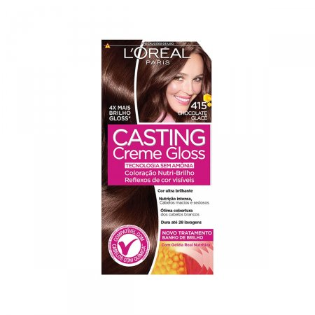 CASTING CREME GLOSS COLORACAO PERMANENTE 415 - CHOCOLATE GLACE 45 G