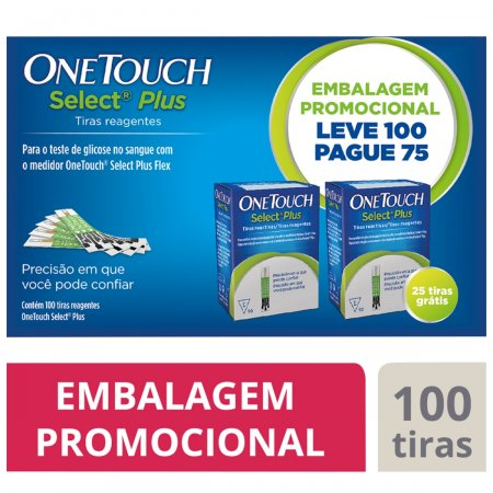 Tira Reagente One Touch Select Plus