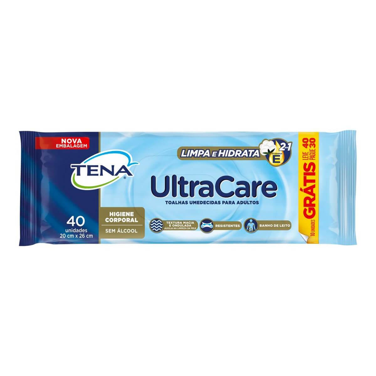 Lenço Umedecido Tena Ultra Care com 40 unidades 40 Unidades