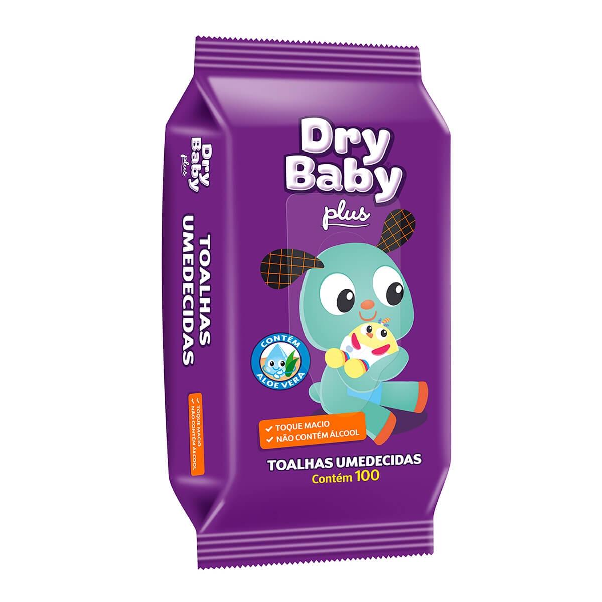 Toalhas Umedecidas DryBaby Plus com 100 Unidades 100 Unidades