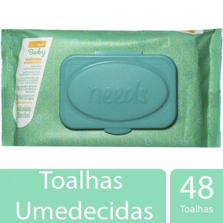 Toalhas Umedecidas Needs Baby 48 Unidades | Drogasil.com Foto 2