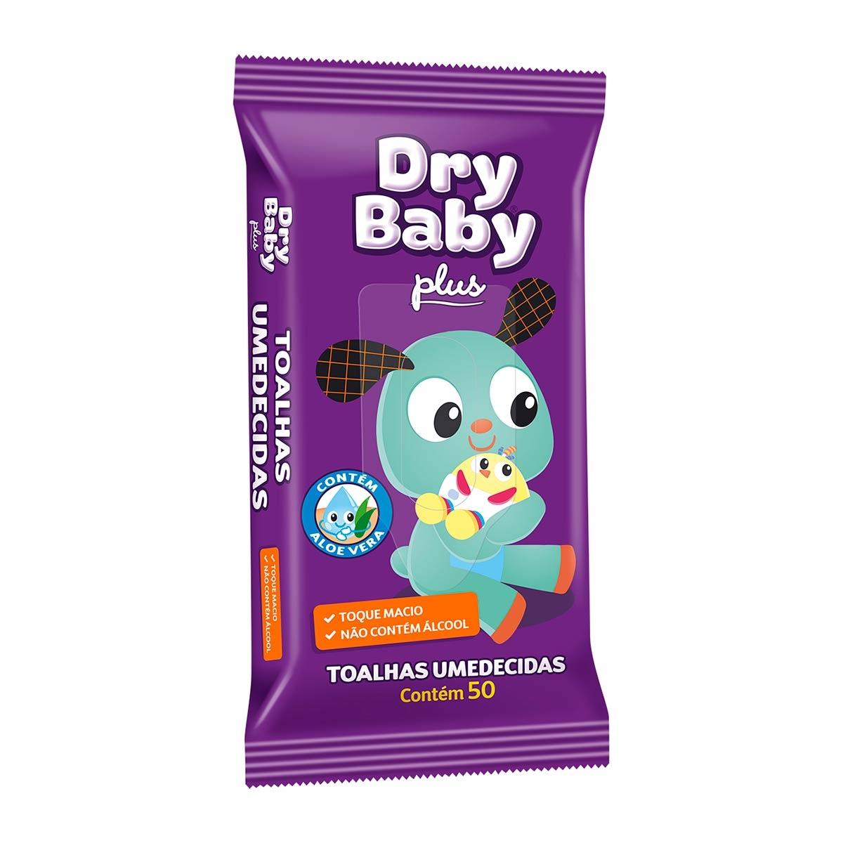 Toalhas Umedecidas Dry Baby Plus com 50 Unidades 50 Unidades