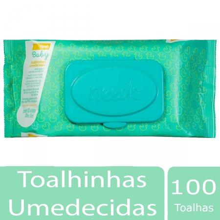 NEEDS TOALHAS UMEDECIDAS BABY 100 UNIDADES