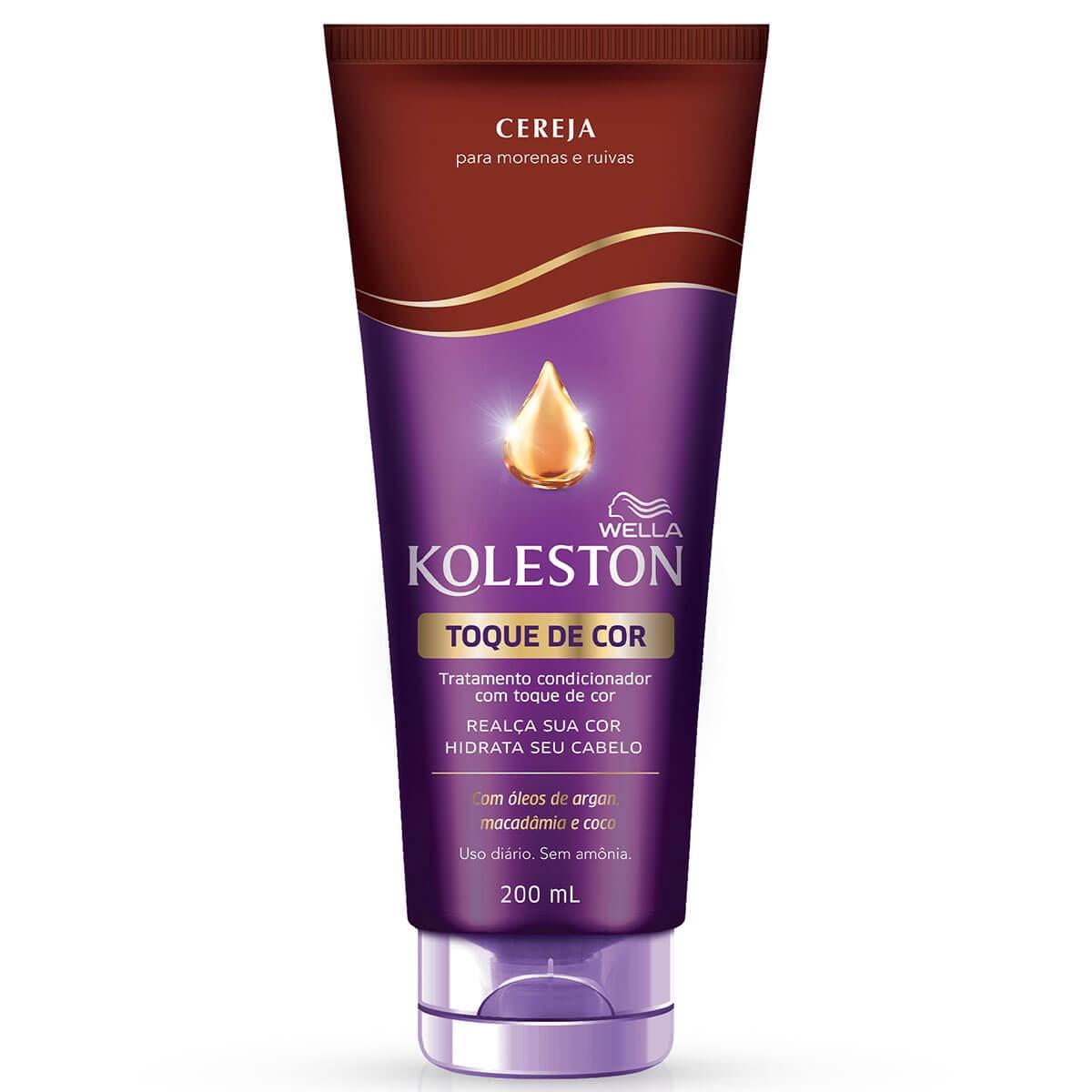 Tratamento Condicionador Koleston com Toque de Cor Cereja 200ml 200ml