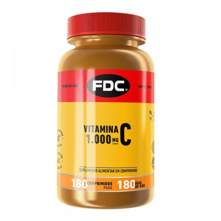 Vitamina C 1000mg com 180 Comprimidos FDC | Drogasil.com