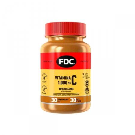 Vitamina C 1000mg Timed Release com 30 Comprimidos FDC | Drogasil.com