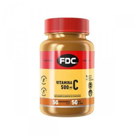 Vitamina C 500mg com 50 Comprimidos FDC   Drogasil.com