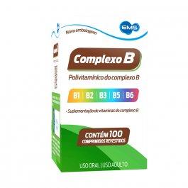 Vitamina Complexo B EMS com 100 comprimidos