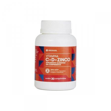 Vitamina Drogasil Tripla Ação Vitamina C 500mg + D 400UI + Zinco 10mg