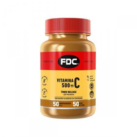 Vitamina C 500mg Timed Release com  50 Comprimidos FDC | Drogasil.com