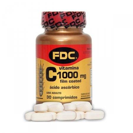 Vitamina C Film Coated 1000MG FDC 30 Comprimidos | Drogasil.com