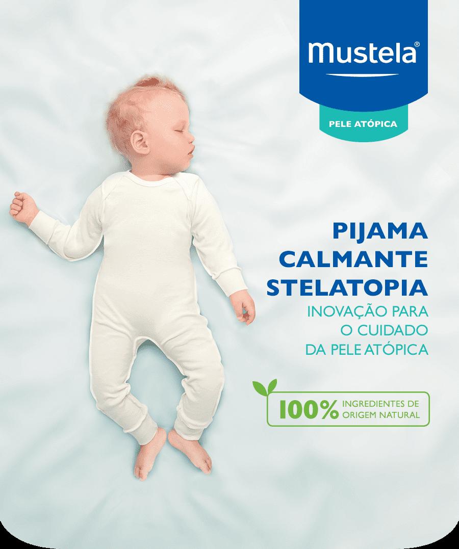 pijama calmante stelatopia - inovação para o cuidado da pele atópica