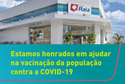 Estamos honrados em ajudar na vacinação da população contra o COVID-19